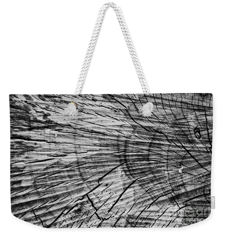 Aged Weekender Tote Bag featuring the photograph Aged Wood by Scott Hervieux