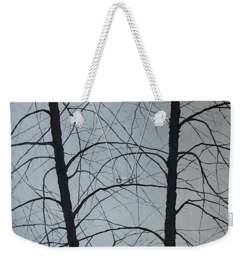 Winter Trees Weekender Tote Bag featuring the painting Aging by Roger Calle