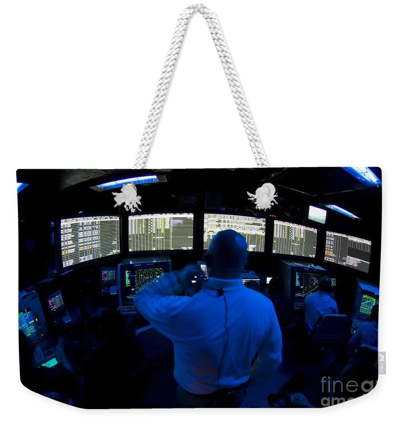 Adults Only Weekender Tote Bag featuring the photograph Air Traffic Controller Watches by Stocktrek Images