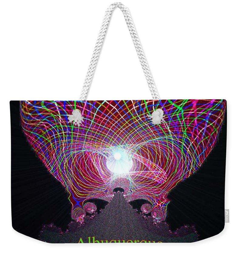 Albuquerque Weekender Tote Bag featuring the digital art Albuquerque by Maria Urso