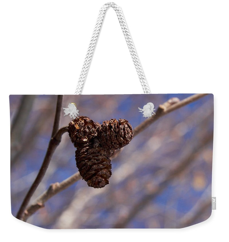 Close Up Weekender Tote Bag featuring the photograph Alder Cones by Jouko Lehto