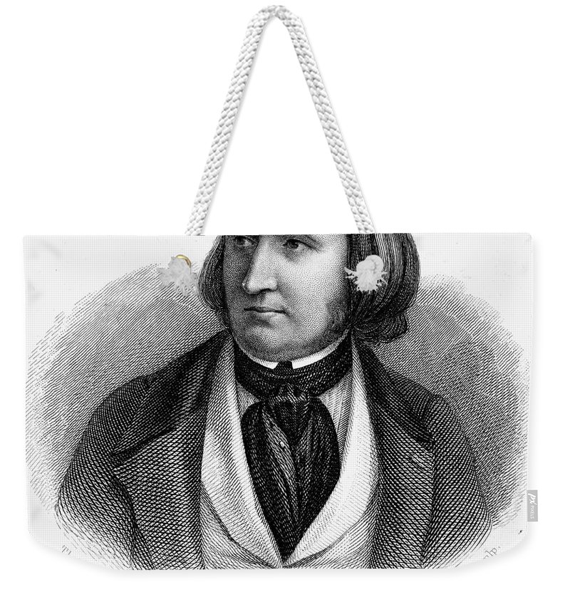 19th Century Weekender Tote Bag featuring the photograph Alfred Victor De Vigny by Granger