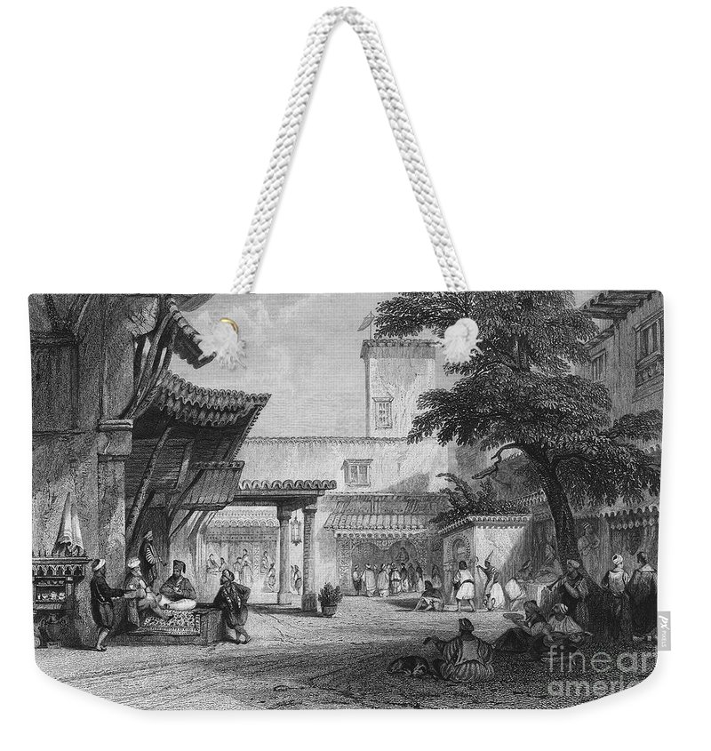 1840 Weekender Tote Bag featuring the photograph Algiers: Bazaar by Granger