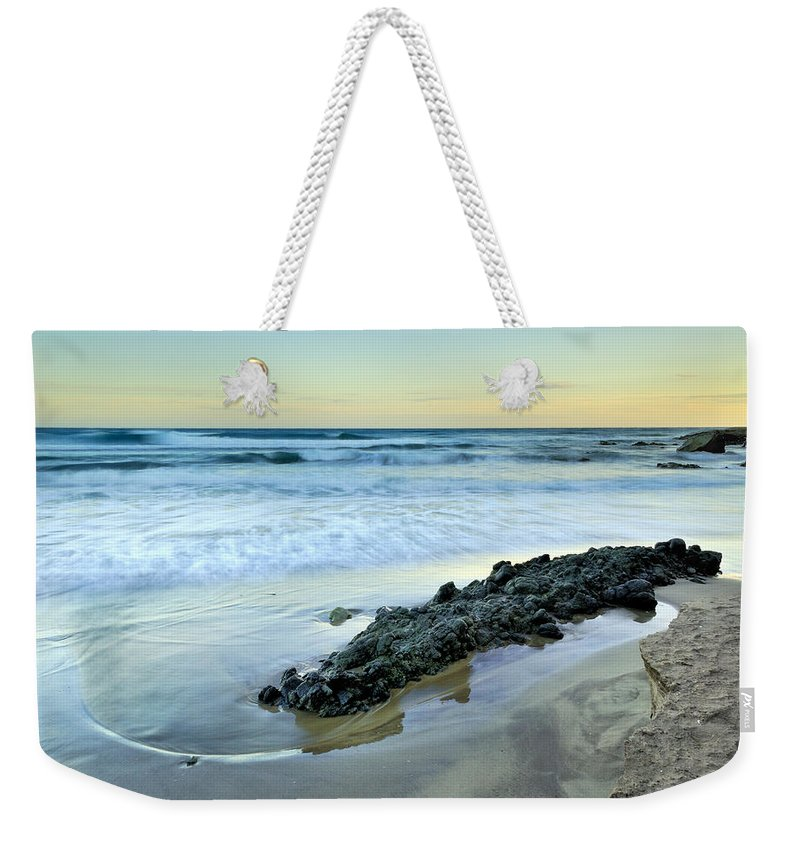 Sunset Weekender Tote Bag featuring the photograph Aligator by Guido Montanes Castillo