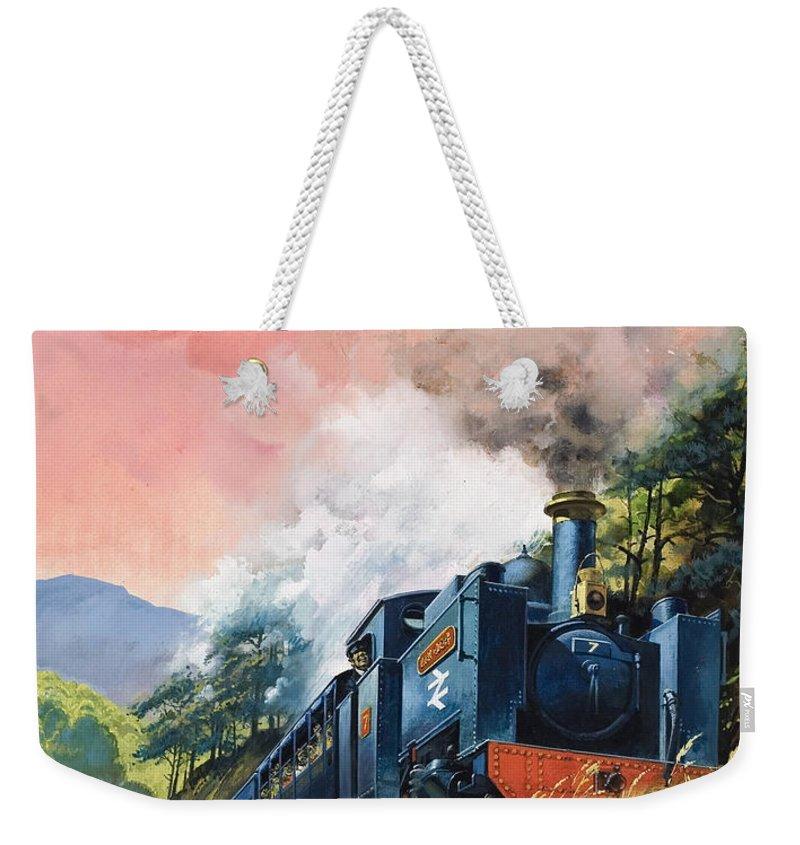 All Aboard For Devil's Bridge Weekender Tote Bag featuring the painting All Aboard For Devil's Bridge by English School