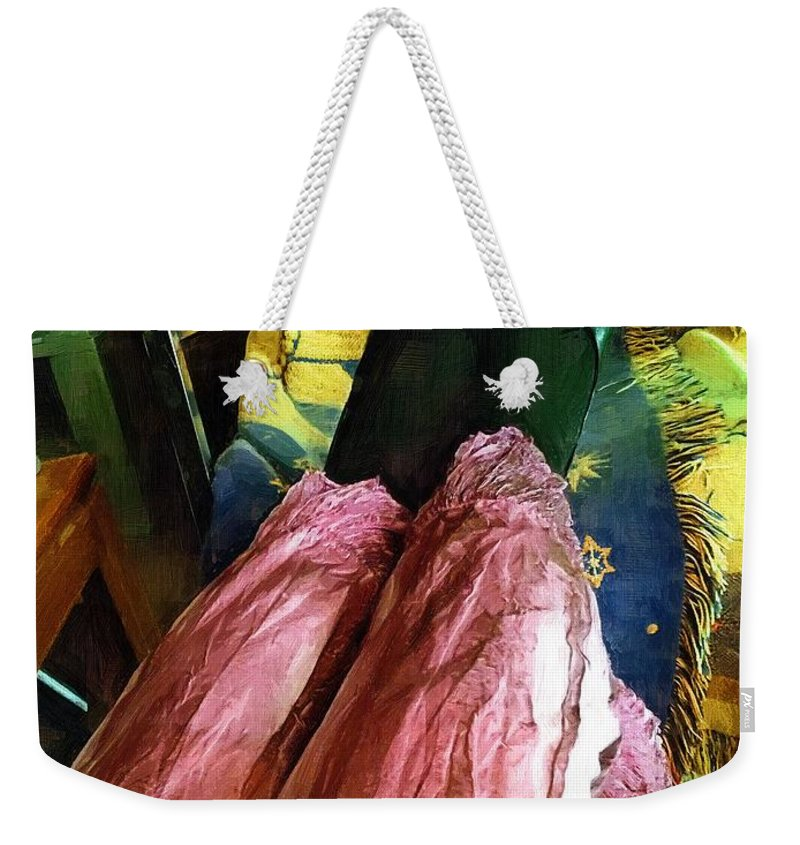 Clothing Weekender Tote Bag featuring the painting All Danced Out by RC DeWinter