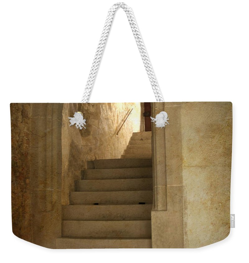 Vertical_format Weekender Tote Bag featuring the photograph All Experience Is An Arch by Heiko Koehrer-Wagner