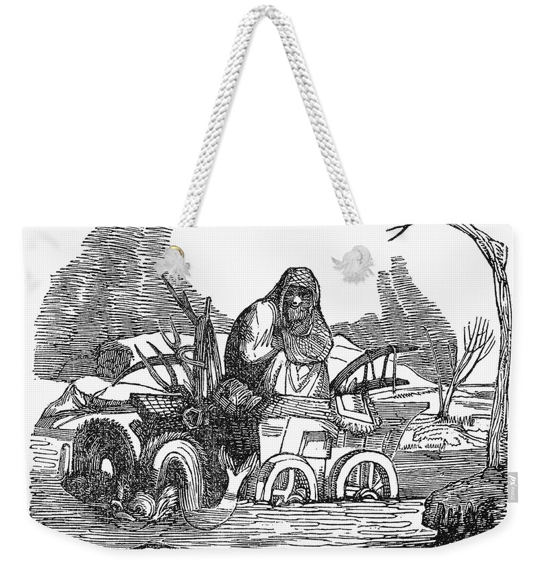 1837 Weekender Tote Bag featuring the photograph Allegory: February, 1837 by Granger