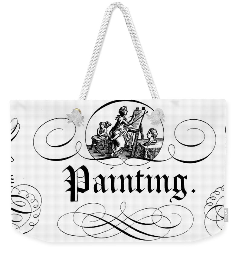 1743 Weekender Tote Bag featuring the photograph Allegory Of Finance, 1743 by Granger
