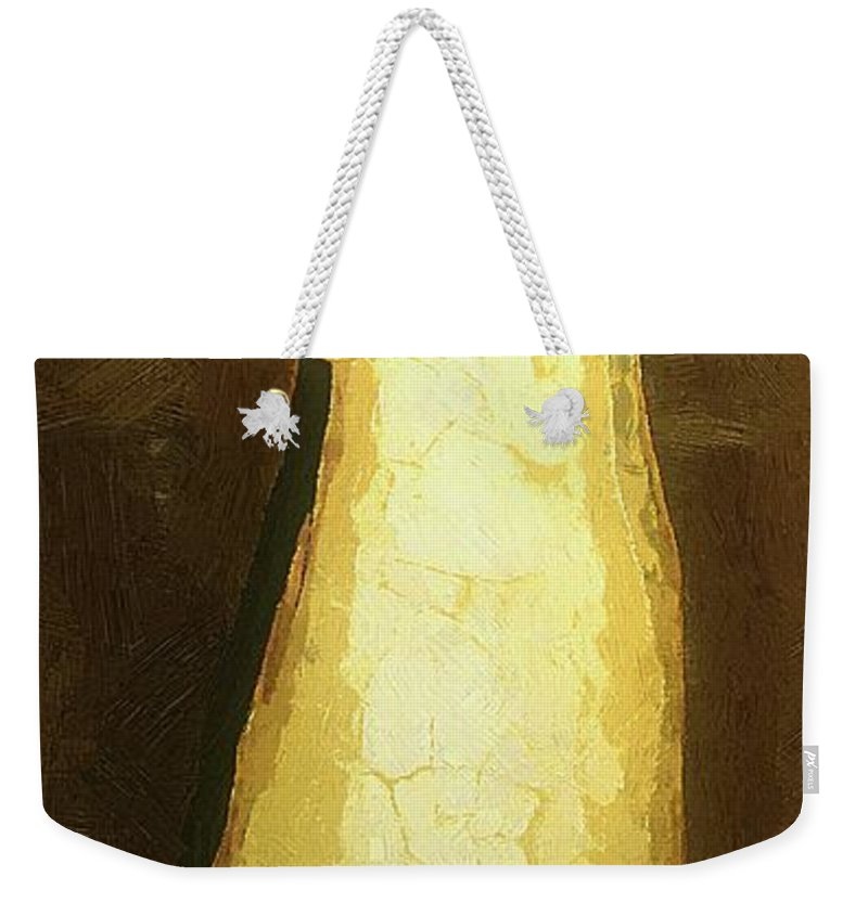 Figure Weekender Tote Bag featuring the painting Almost An Angel by RC DeWinter