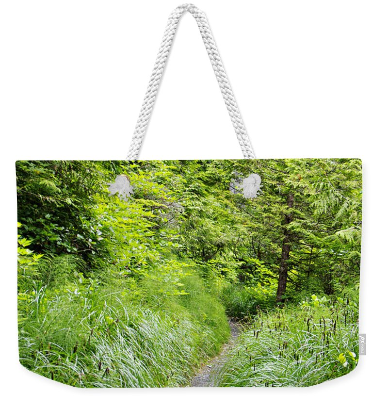 Path Weekender Tote Bag featuring the photograph Along The Path by Marilyn Wilson
