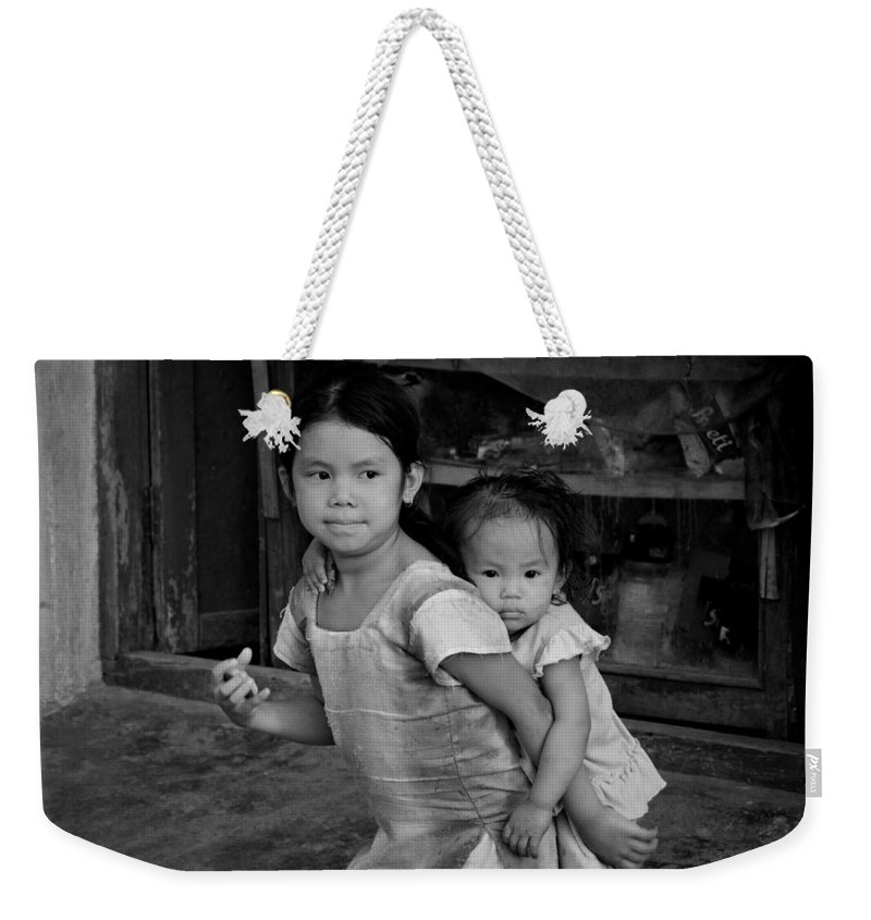 Children Weekender Tote Bag featuring the photograph Always Together by Valerie Rosen