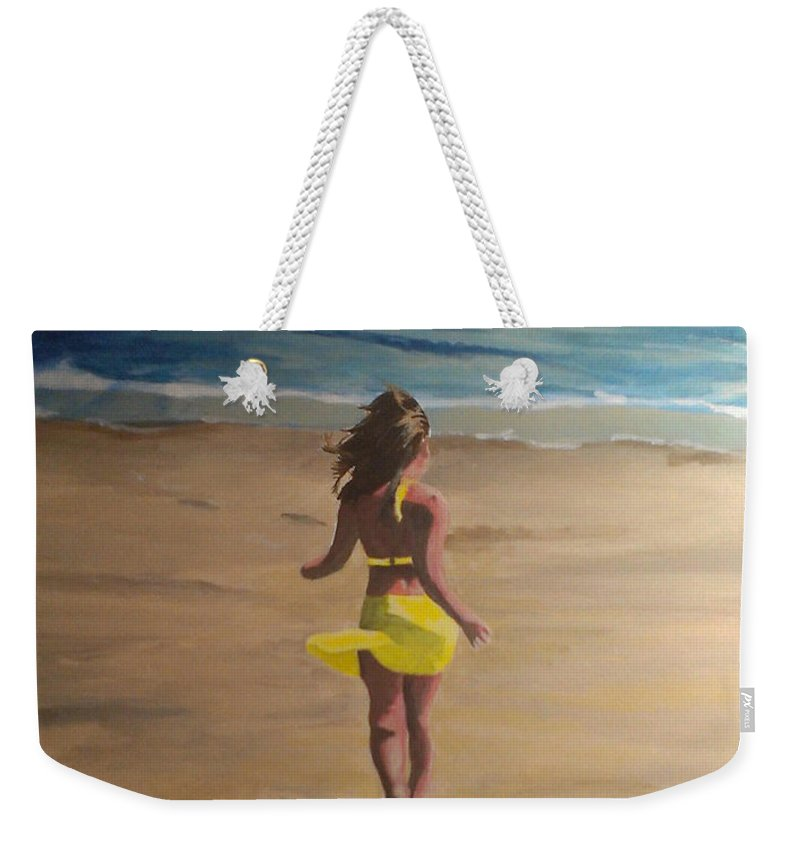 Beach Weekender Tote Bag featuring the painting Amelia Beach by Travis Day