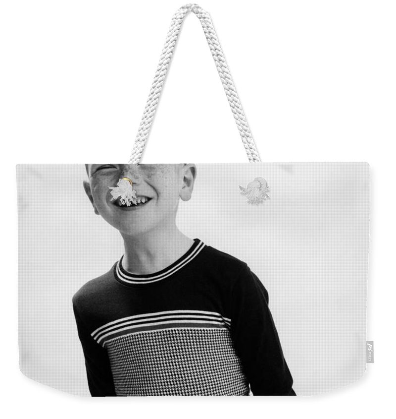 Nineteen-fifties Weekender Tote Bag featuring the photograph American Boy by Hans Namuth and Photo Researchers
