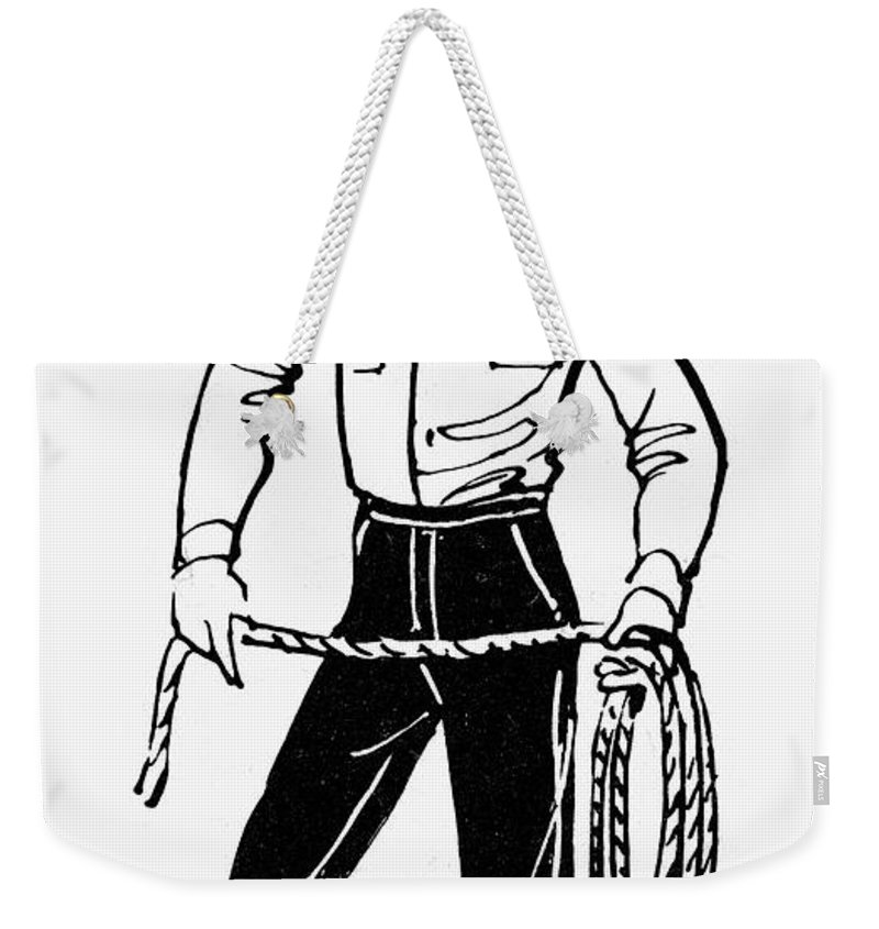 19th Century Weekender Tote Bag featuring the photograph American Cowboy by Granger