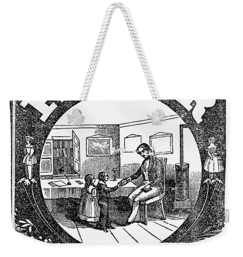 1845 Weekender Tote Bag featuring the photograph American Pictorial Primer by Granger