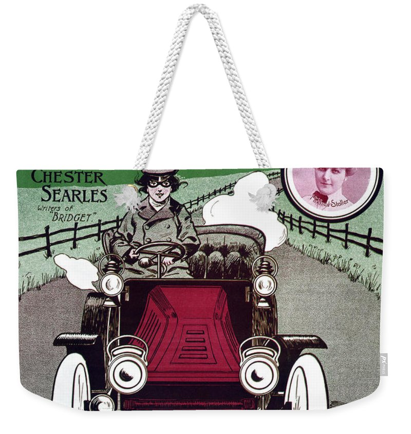 1904 Weekender Tote Bag featuring the photograph American Song Sheet, 1904 by Granger