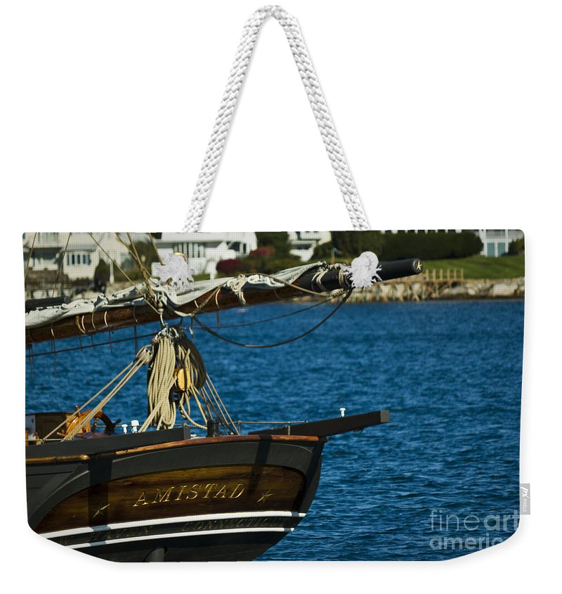 Amistad Weekender Tote Bag featuring the photograph Amistad by Brenda Giasson
