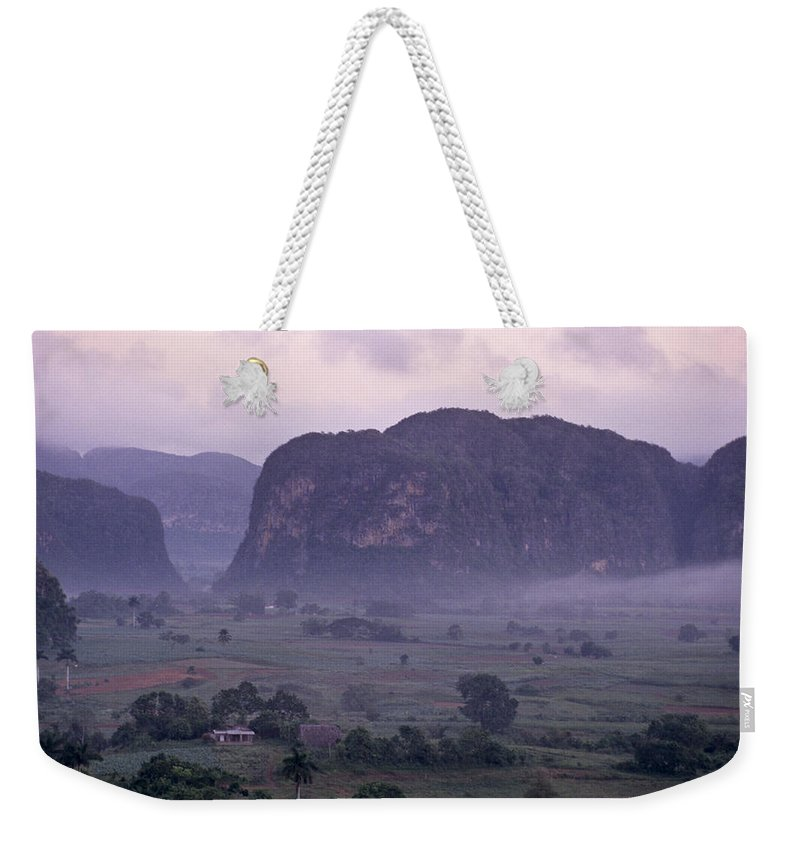 Cuba Weekender Tote Bag featuring the photograph An Early Morning Landscape In Cubas by Kenneth Ginn