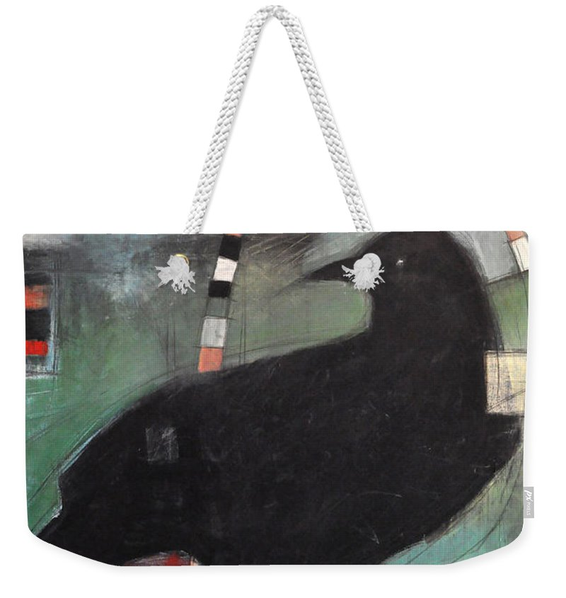 Bird Weekender Tote Bag featuring the painting Ancestral Visit by Tim Nyberg