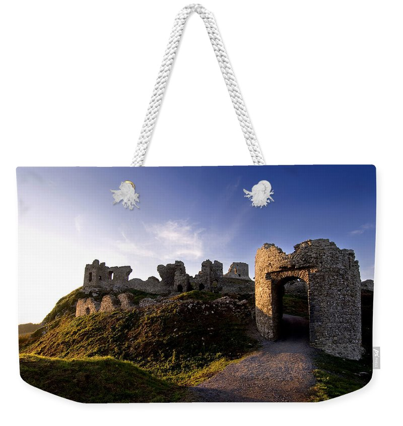 Photography Weekender Tote Bag featuring the photograph Ancient Ruins On Top Of The Rock by Chris Hill