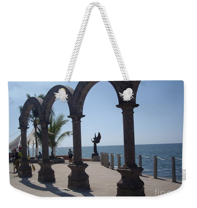 Aimee Mouw Weekender Tote Bag featuring the photograph Angel At Puerto Vallarta by Aimee Mouw