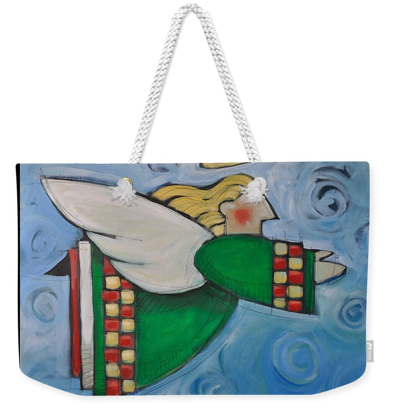 Angels Weekender Tote Bag featuring the painting Angel Flight Poster by Tim Nyberg