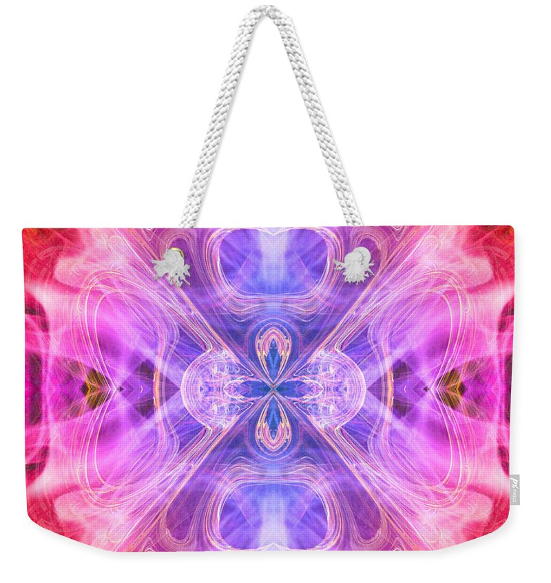 Angel Weekender Tote Bag featuring the digital art Angel Of Compassion by Diana Haronis