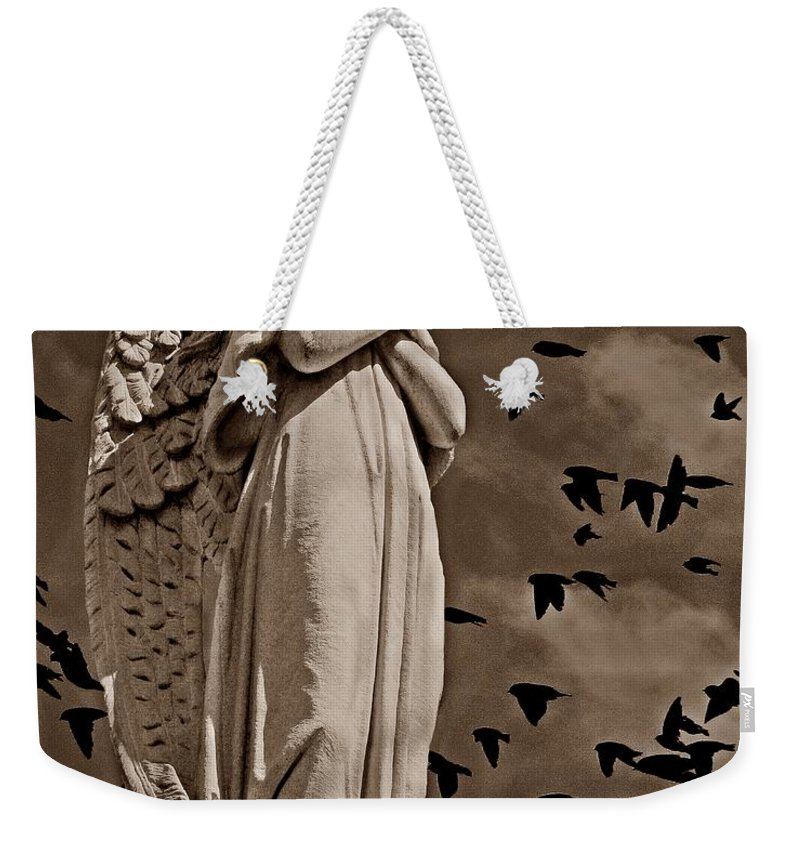 Angel Weekender Tote Bag featuring the photograph Angel Of Stone S by David Dehner
