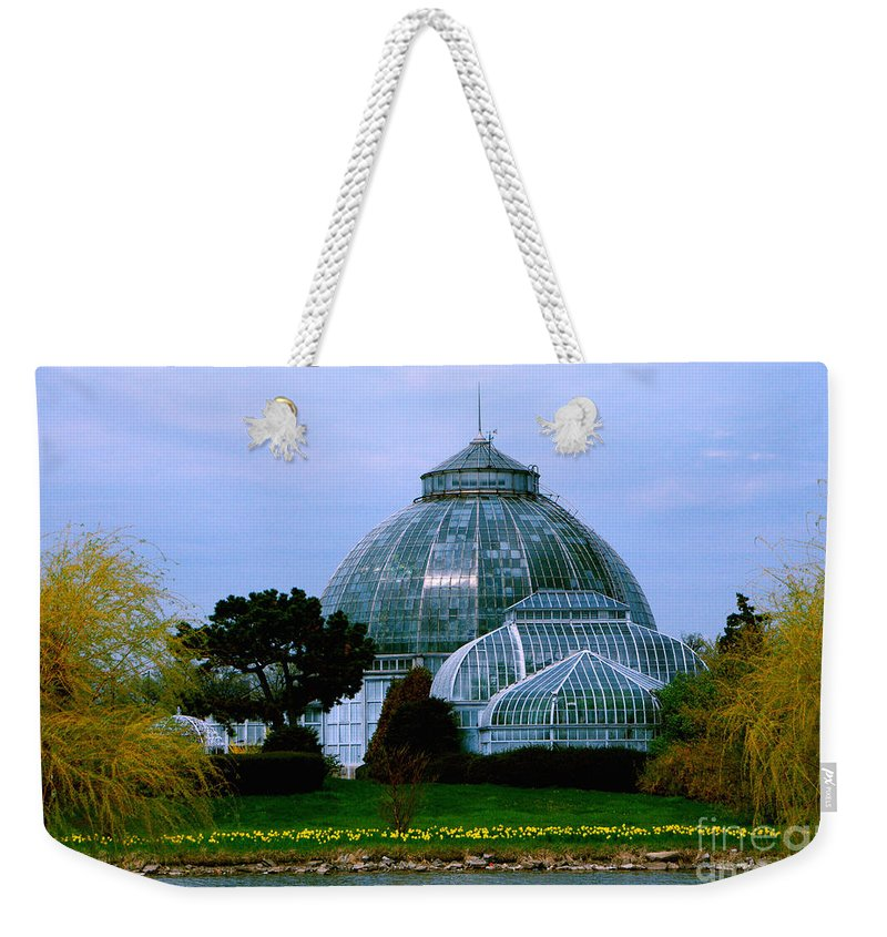 Anna Scripps Whitcomb Conservatory Weekender Tote Bag featuring the photograph Anna Scripps Whitcomb Conservatory by Grace Grogan