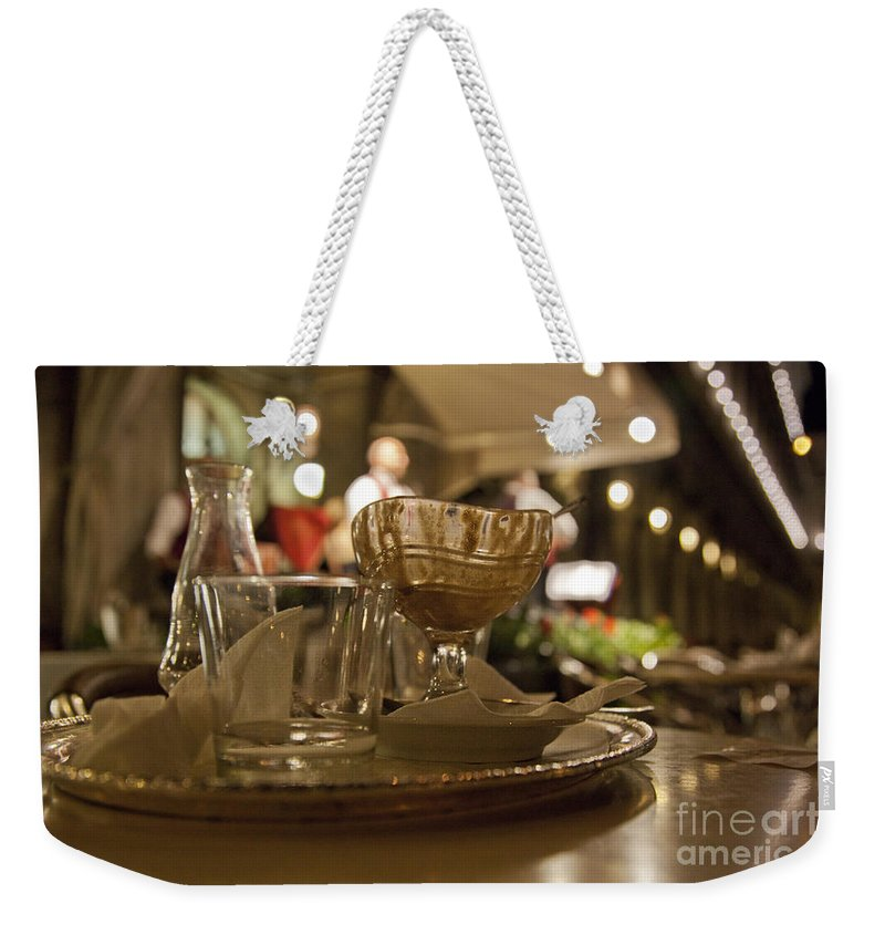 Still Life Weekender Tote Bag featuring the photograph Another Gelato Please by Madeline Ellis