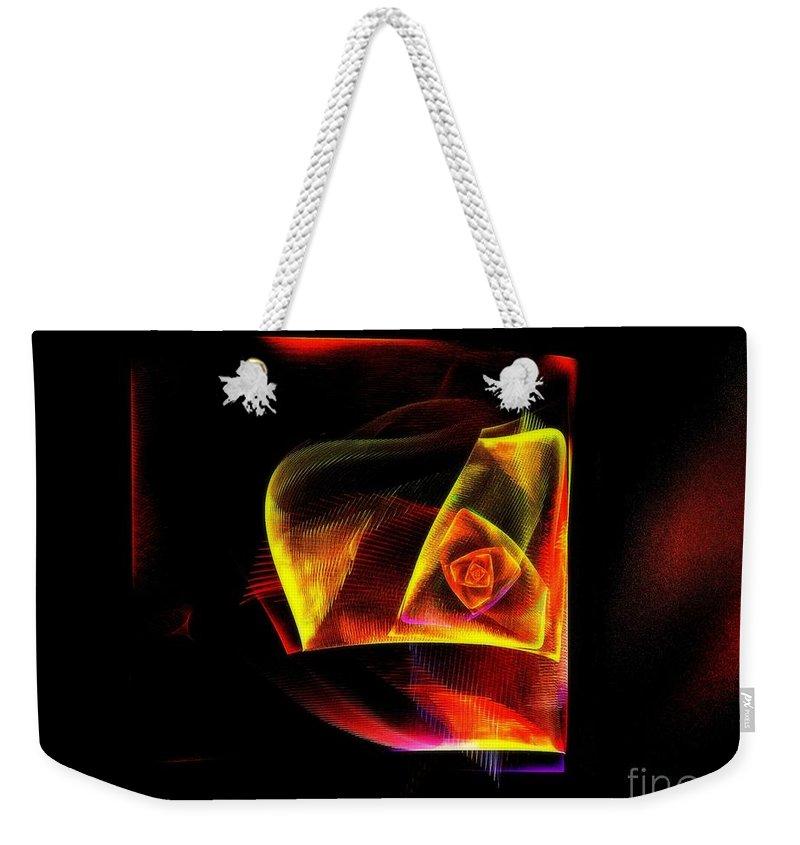 Fractal Weekender Tote Bag featuring the digital art Another Rose by Klara Acel