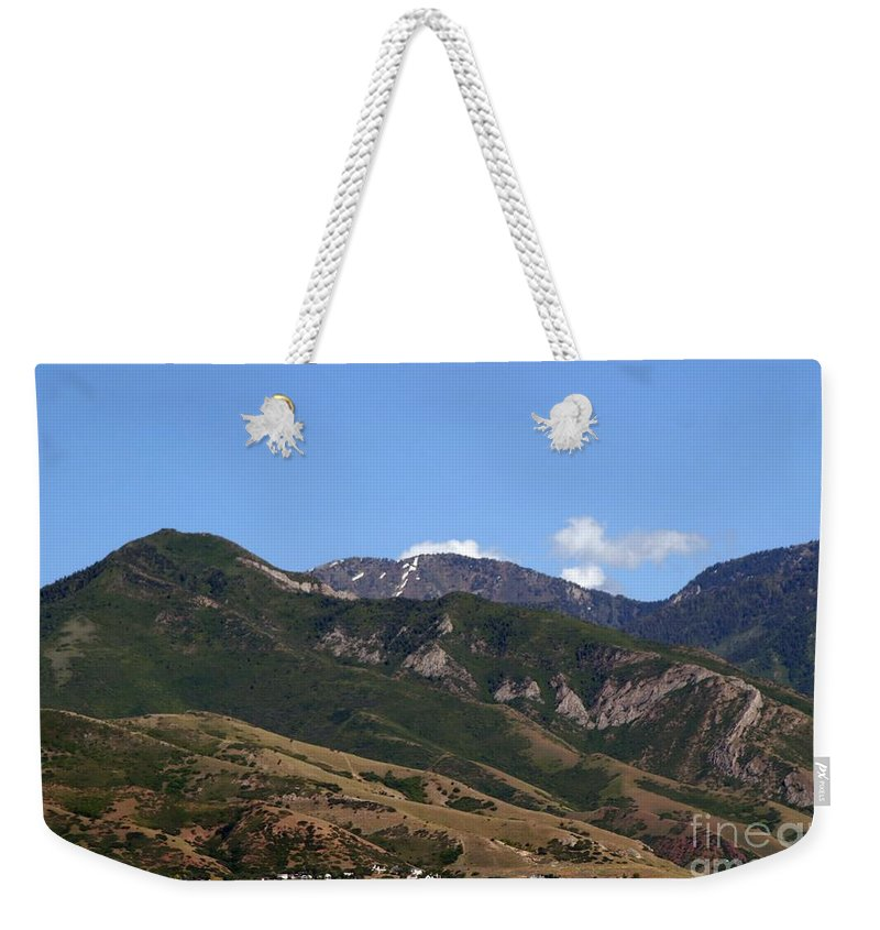 Salt Lake City Weekender Tote Bag featuring the photograph Another View Of Salt Lake City by Living Color Photography Lorraine Lynch
