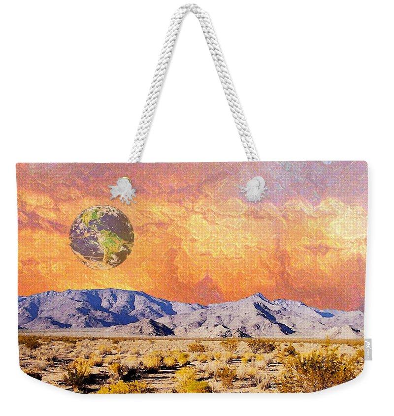 Earth Weekender Tote Bag featuring the digital art California Dreaming by Lizi Beard-Ward