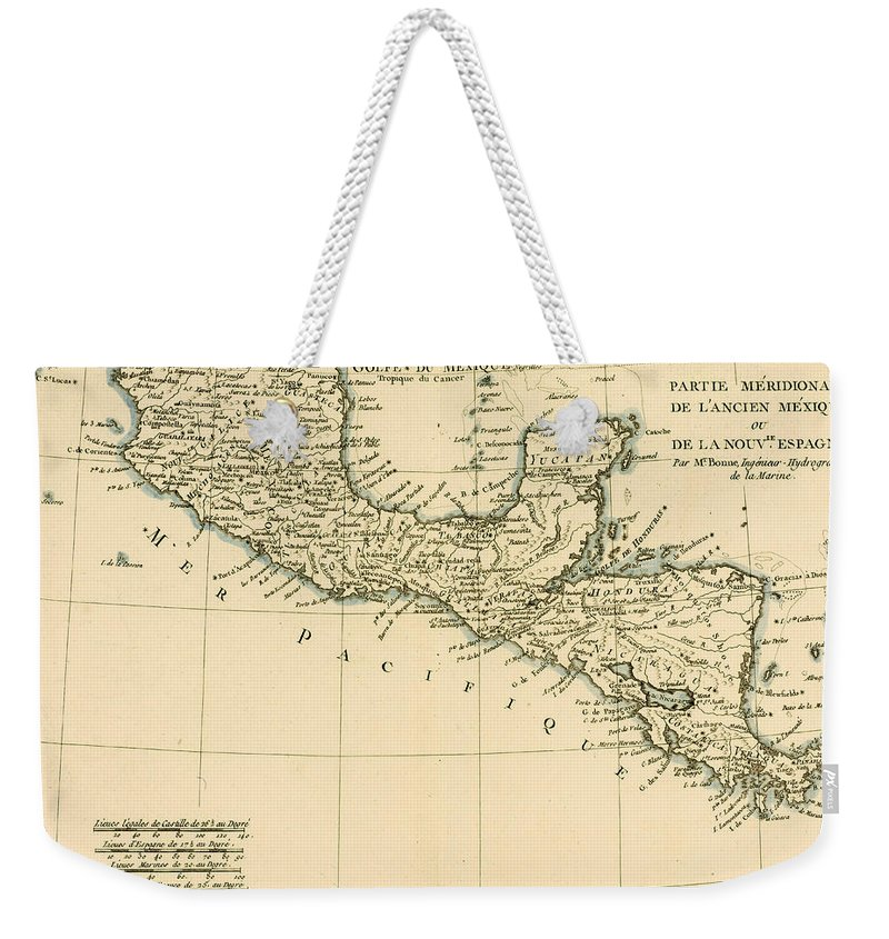 Antique Map Of Southern Mexico Weekender Tote Bag