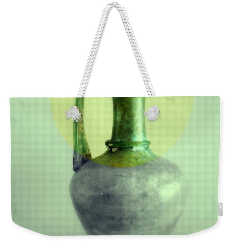 Still Life Weekender Tote Bag featuring the photograph Antique Vases Still Life Altered IIi by Kathleen Grace