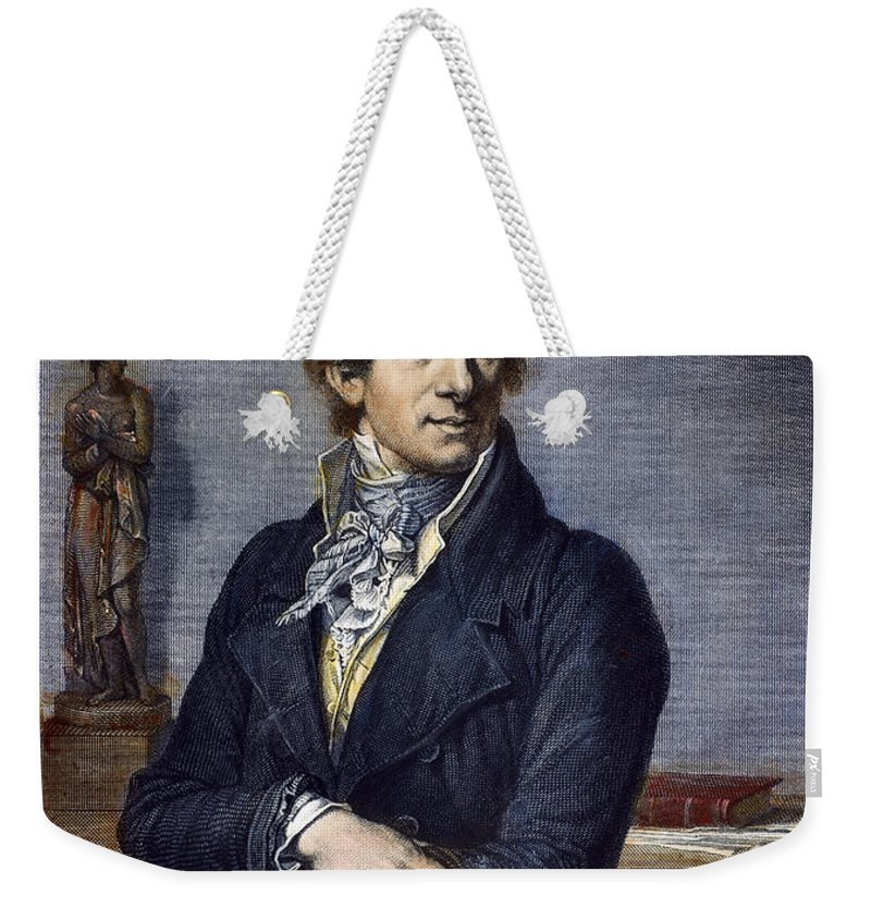 18th Century Weekender Tote Bag featuring the photograph Antonio Canova (1757-1822) by Granger