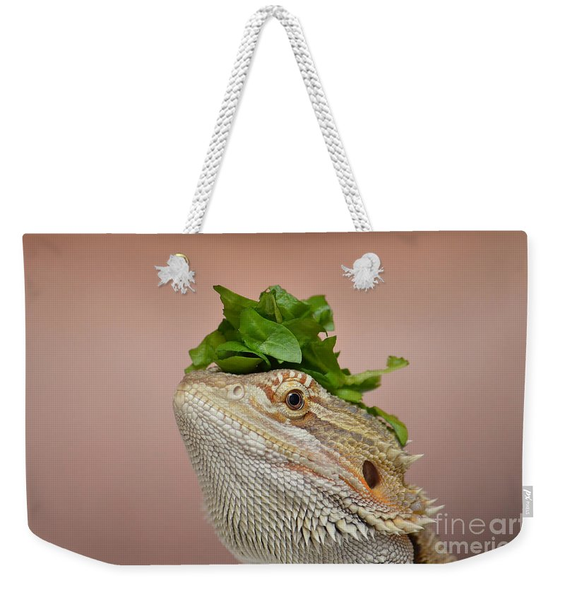 Digital Weekender Tote Bag featuring the digital art Anyone Seen My Salad? by Richard Ortolano