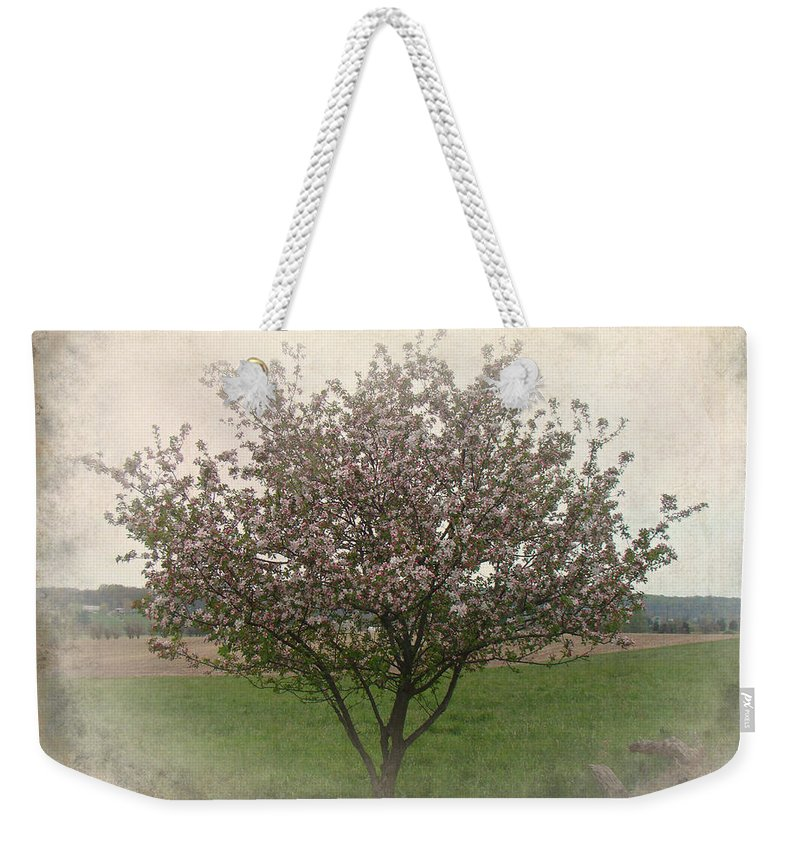 Apple Weekender Tote Bag featuring the photograph Apple Blossoms by Mother Nature