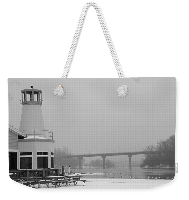 Appleton Yacht Club Weekender Tote Bag featuring the photograph Appleton Yacht Club by Joel Witmeyer