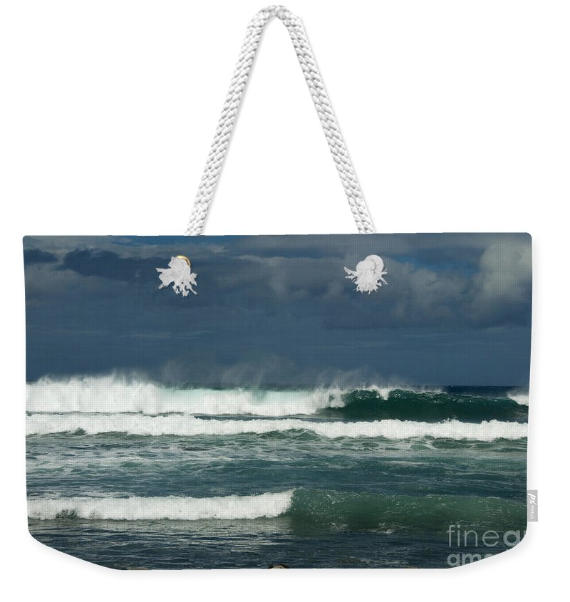 Sandra Bronstein Weekender Tote Bag featuring the photograph Approaching Storm In Maui by Sandra Bronstein
