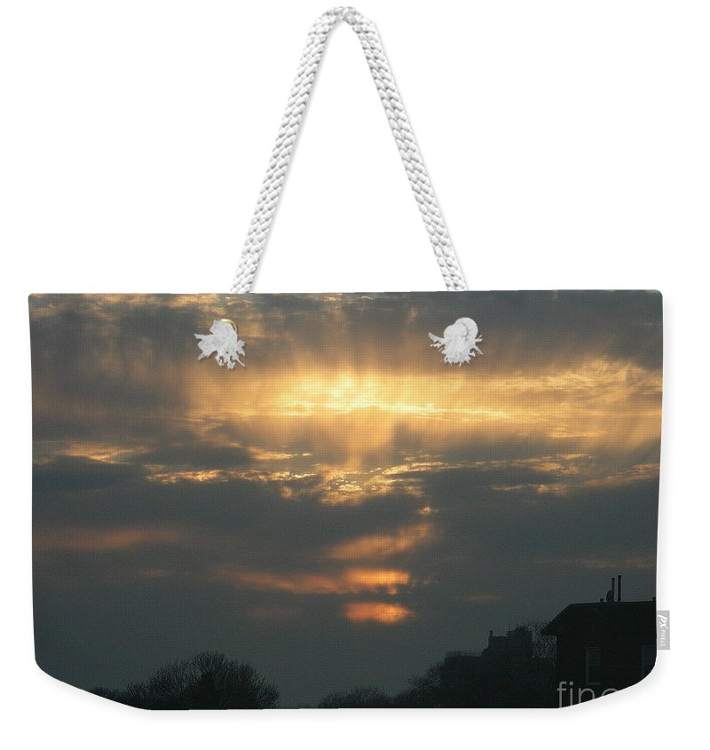 Sunset Weekender Tote Bag featuring the photograph April 10 2008 by Mark Gilman