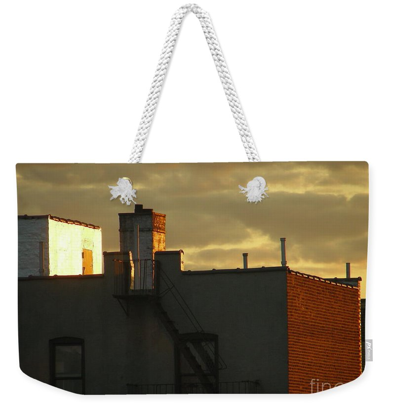 Sunset Weekender Tote Bag featuring the photograph April 14 2008 by Mark Gilman