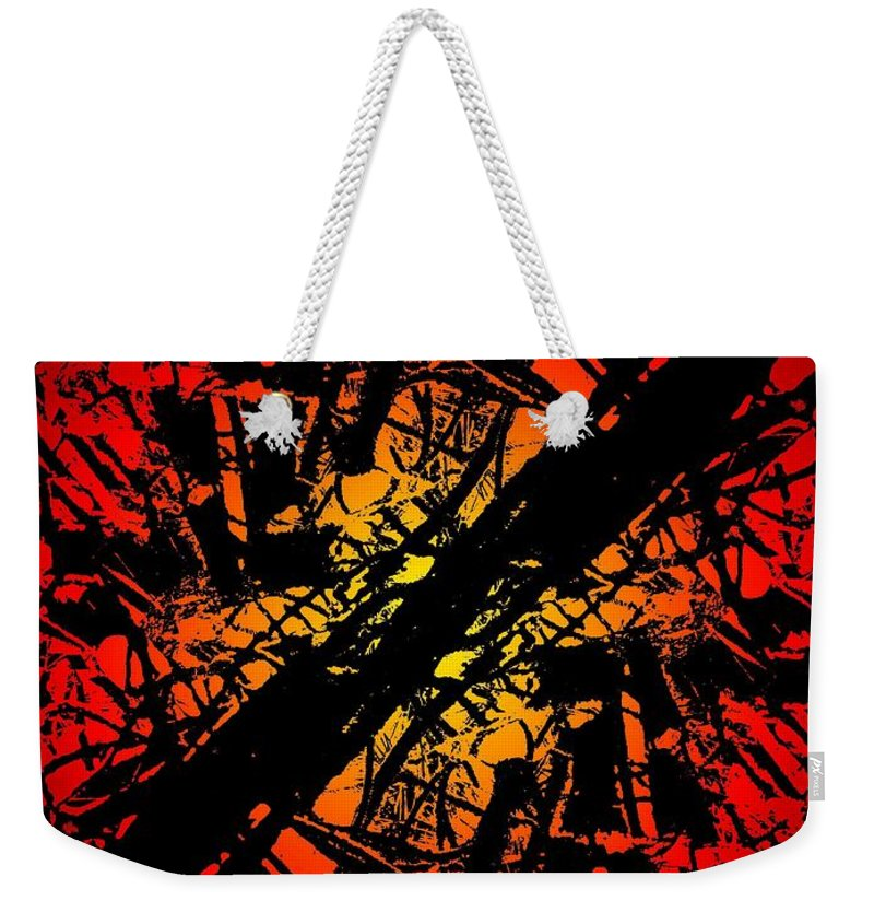 Abstract Weekender Tote Bag featuring the digital art Arbor Sun by Tim Allen