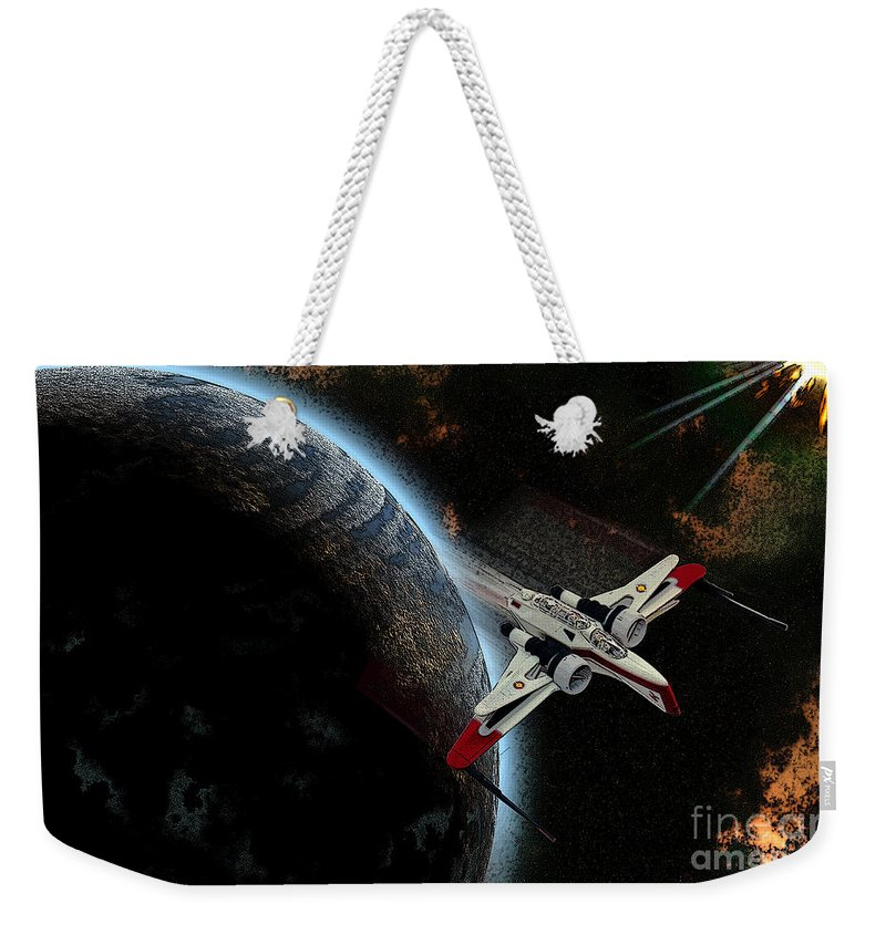 Kosmos Weekender Tote Bag featuring the photograph 10117 Arc-170 Starfighter by Colin Hunt