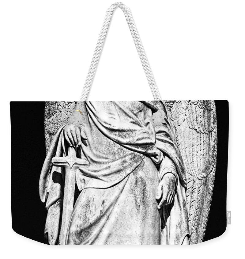 Angel Weekender Tote Bag featuring the photograph Archangel By Night by Georgiana Romanovna