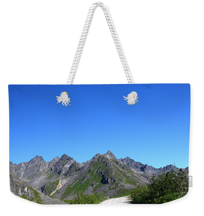 Doug Lloyd Weekender Tote Bag featuring the photograph Archangel Road by Doug Lloyd