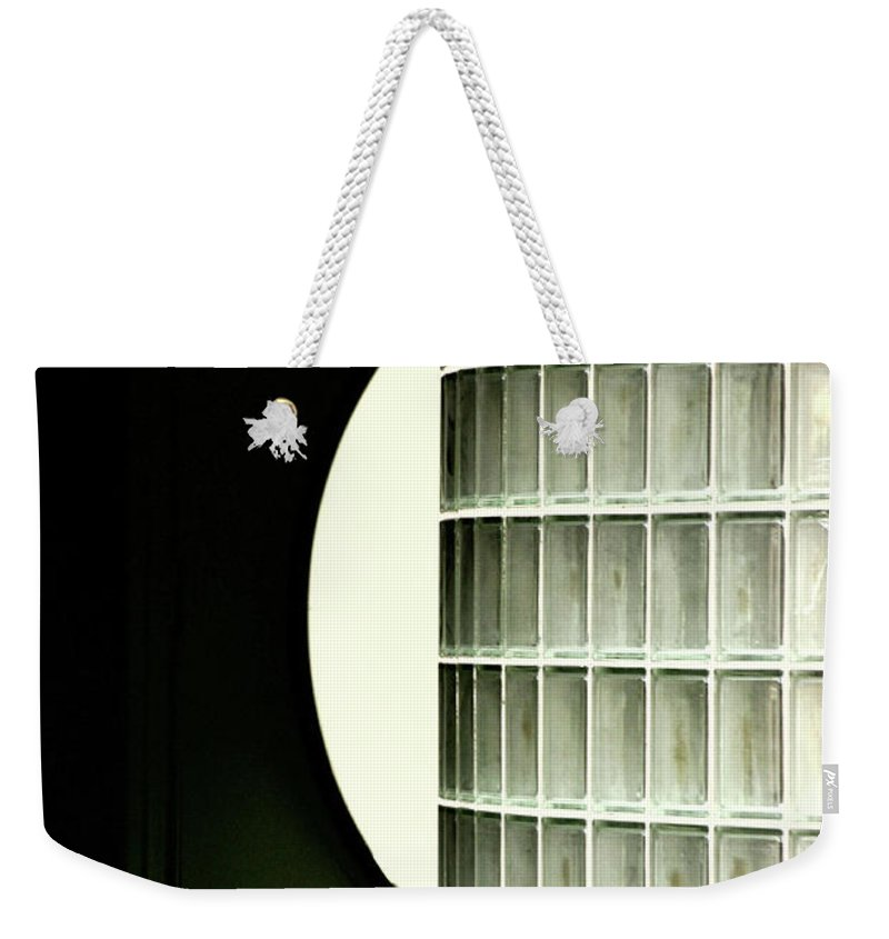 Glass Weekender Tote Bag featuring the photograph Architectural Abstract by Frances Hattier