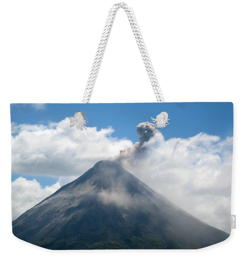 Volcano Weekender Tote Bag featuring the photograph Arenal Eruption by Eric Tressler