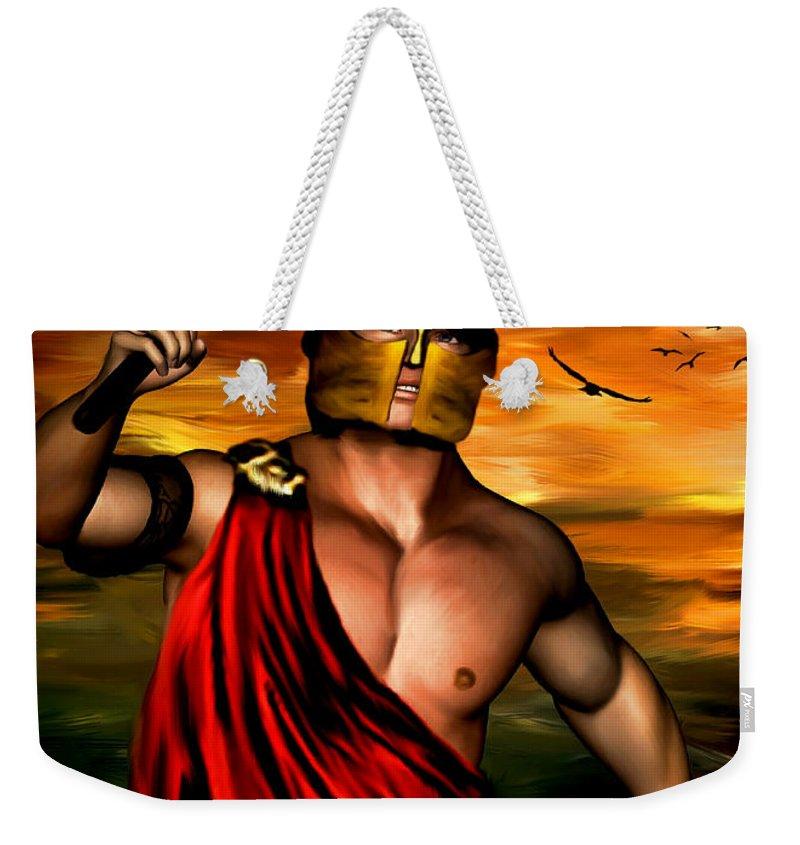 God Of War Weekender Tote Bags